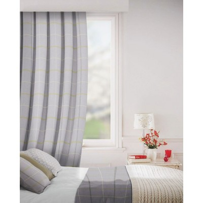 Clevedon in Pewter Flame Retardant Curtain