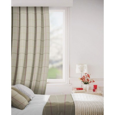 Clevedon in Pumice Flame Retardant Curtain