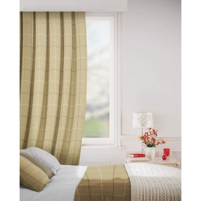 Clevedon in Stone Flame Retardant Curtain