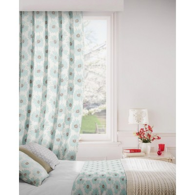 Daisy 134 Sky Fire Resistant Curtains