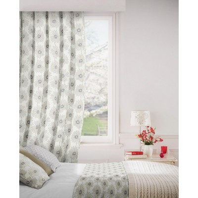 Daisy 852 Beige Cream Fire Resistant Curtains