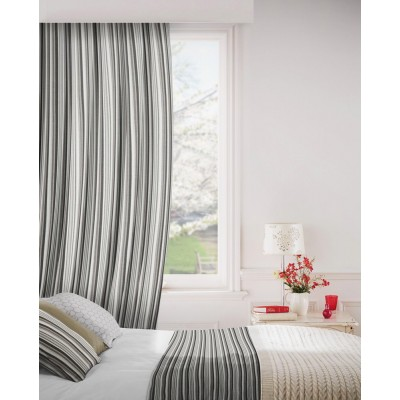 Dandy 950 Black Grey Fire Resistant Curtains