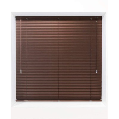 Dark Brown 25mm Metal Venetian Blind - Made to Measure