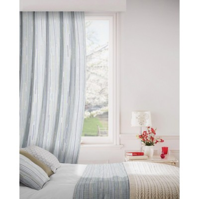 Dash 234 Pistachio Ivory Fire Resistant Curtains