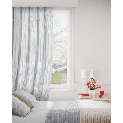 Dash 299 Citrus Charcoal Fire Resistant Curtains