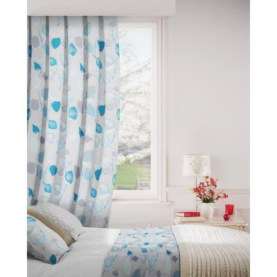 Eden 159 Duck Egg Ivory Fire Resistant Curtains