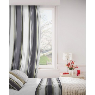 Edge 299 Citrus Charcoal Fire Resistant Curtains