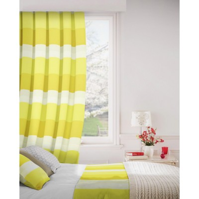 Escape 303 Lemon Fire Resistant Curtains