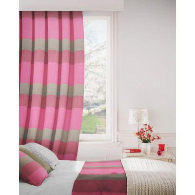 Escape 457 Raspberry Chocolate Fire Resistant Curtains