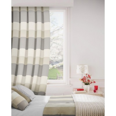 Escape 978 Pewter Mink Fire Resistant Curtains
