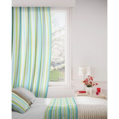 Fiesta 171 Turquoise Lime Fire Resistant Curtains