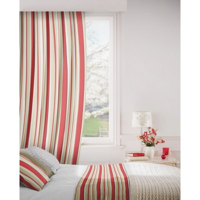 Fiesta 480 Red Beige Fire Resistant Curtains