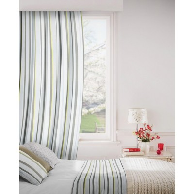 Fiesta 901 Silver Fire Resistant Curtains