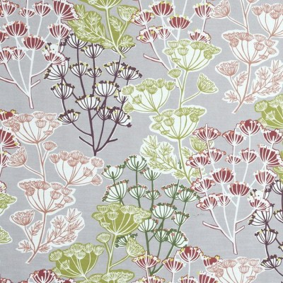Flourish 481 Damson Fire Resistant Fabric
