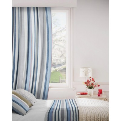 Fresco 150 Blue Grey Fire Resistant Curtains
