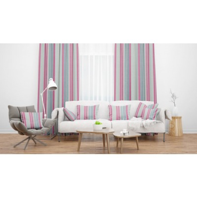 Lakeside Hawkshead Raspberry Flame Retardant Curtains