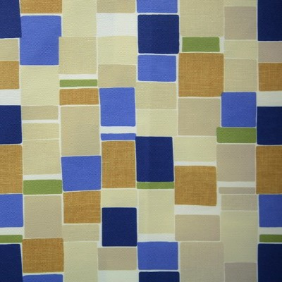 Jitterbug 130 Blue Gold Fire Resistant Fabric