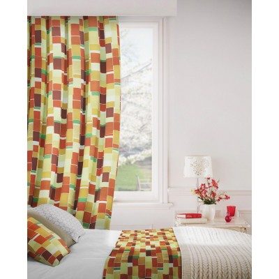 Jitterbug 348 Gold Henna Fire Resistant Curtains