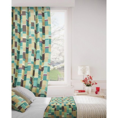 Jitterbug 713 Mink Duck Egg Fire Resistant Curtains