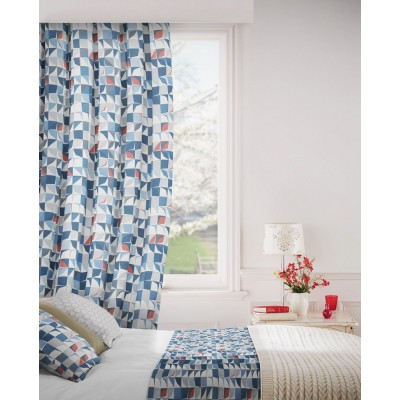 Kinetic 150 Blue Grey Fire Resistant Curtains