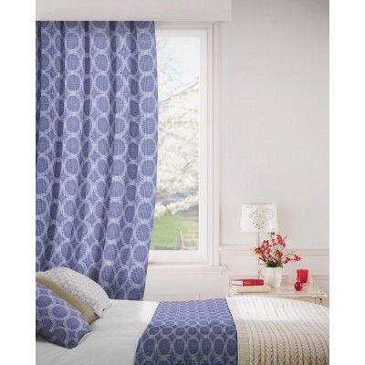 Logic 107 Cornflower Fire Resistant Curtains