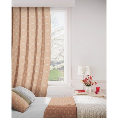 Logic 436 Paprika Fire Resistant Curtains