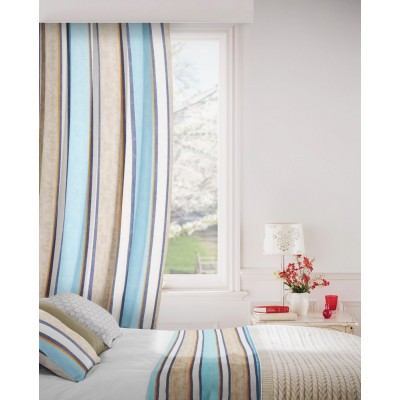 Midsummer 109 Sky Indigo Fire Resistant Curtains