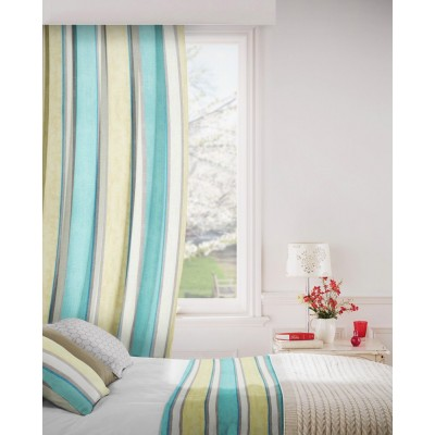 Midsummer 155 Duck Egg Blue Fire Resistant Curtains