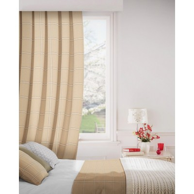 Milan 834 Honey Fire Resistant Curtains