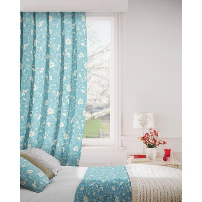 Monaco 131 Azure Fire Resistant Curtains