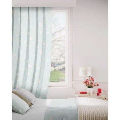 Monaco 158 Duck Egg Cream Fire Resistant Curtains