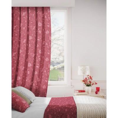 Monaco 609 Rose Fire Resistant Curtains