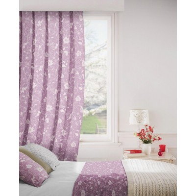 Monaco 624 Mulberry Fire Resistant Curtains