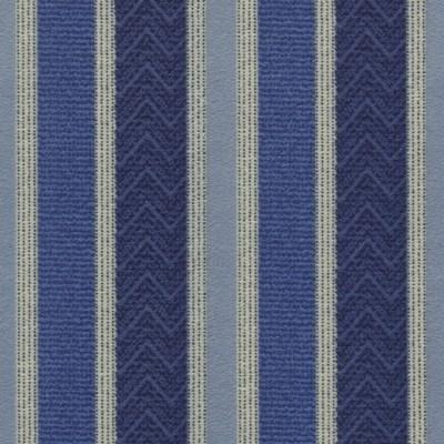 Nobel Stripe 100 Blue Fire Resistant Curtains