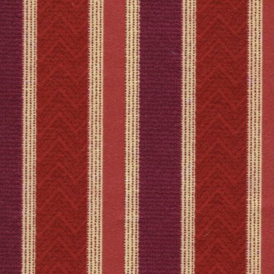 Nobel Stripe 615 Berry Fire Resistant Fabric