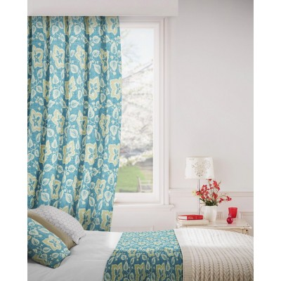 Oakley 179 Blue Cream Fire Resistant Curtains