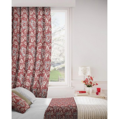 Oakley 400 Red Fire Resistant Curtains