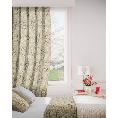 Oakley 800 Beige Fire Resistant Curtains