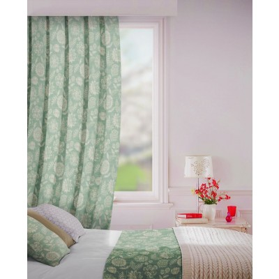 Parnell in Mist Flame Retardant Curtain