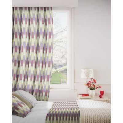 Plaza 745 Mink Purple Fire Resistant Curtains