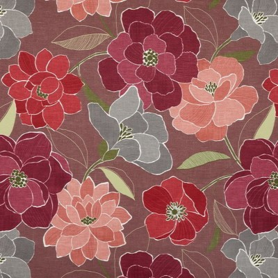 Poetry 481 Damson Fire Resistant Fabric