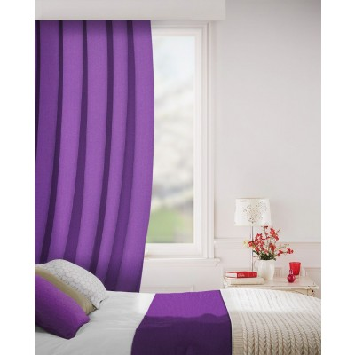 Sheffield in Heather Flame Retardant Curtain