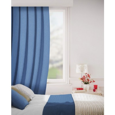 Sheffield in Indigo Flame Retardant Curtain
