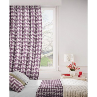 Stella 681 Mulberry Linen Fire Resistant Curtains