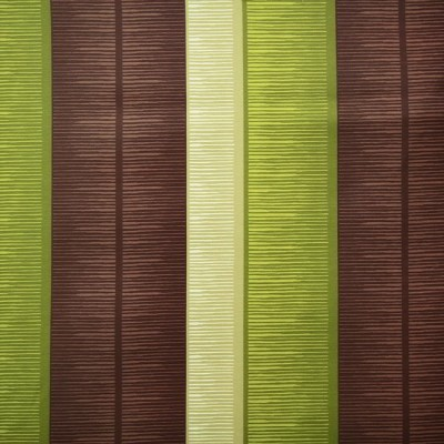 Tango Stripe 273 Lime Brown Fire Resistant Curtains