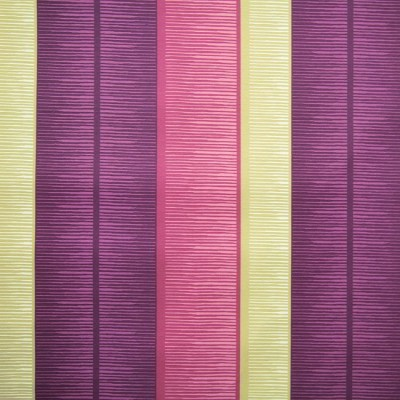 Tango Stripe 681 Mulberry Linen Fire Resistant Fabric