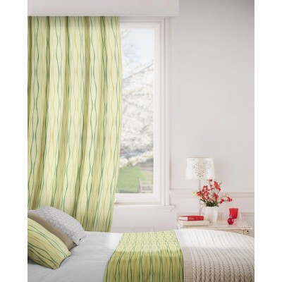 Toro 318 Maize Teal Fire Resistant Curtains