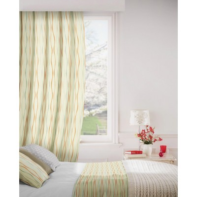 Toro 601 Coral Blue Fire Resistant Curtains