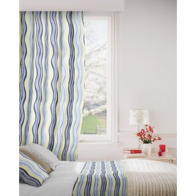 Twist 100 Blue Fire Resistant Curtains