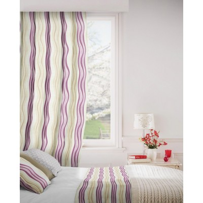 Twist 681 Mulberry Linen Fire Resistant Curtains